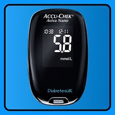 ACCU-chek Aviva Nano Medidor de glucosa en la sangre/Monitor-Medidor de una sola unidad