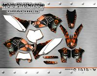 KTM EXC 125 200 250 300 450 530 2008 up to 2011 decals graphics kit Moto StyleM