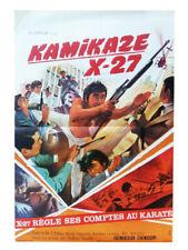 Cartel Plegable 40x60cm Kamikaze X 27 (Yakuza Deka ) 1970 Shin de Ichi Chiba ,