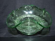 Antique Pale Green Glass Marmalade Preserve Dish