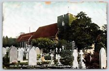 St. Martin's Church North Canterbury, England Divided Back Postcard
