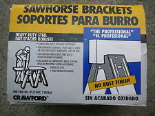 Crawford All Steel Quick-Assemble Sawhorse Brackets, Re-Useable and Reliable