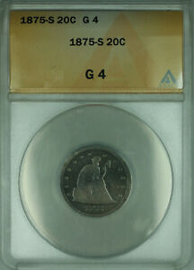 1875-S Twenty Cent Piece 20c Silver Coin ANACS G-4 Good