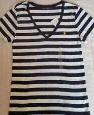 Ralph Lauren Hip Length V Neck Basic T-Shirts for Women