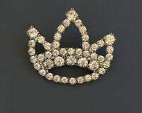 Vintage crown brooch pin