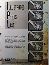Mcculloch Chain Saw 33b Super 33 35 39 Mac 35 Mac 35a Parts Manual 2 Cycle Gas