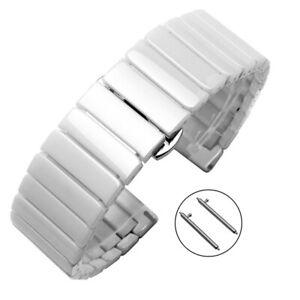 Luxury Ceramic Link Band Strap for Samsung Galaxy Watch 3 41/45mm 41/46 Gear S3