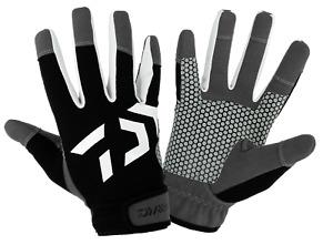 Daiwa Offshore Fishing Gloves Black UV Protection Heavy Duty