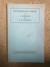 Four figure tables by c godfrey and aw siddons. Cambridge university press,  195