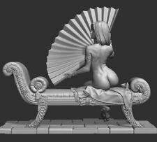 1/32 Resin Figure Model Kit Sexy FAN LADY Woman NIGHT Girl unpainted unassembled