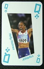 1 x playing card London 2012 Olympic Legends Kelly Holmes Athletics Queen Clubs