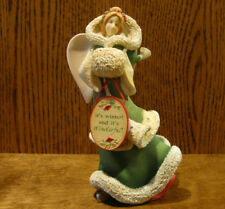 "The Heart of Christmas #4052769 ANGEL w/ SKATES, by Karen Hahn, 7.87"" NEW/Box"