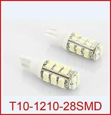 2X 28 SMD LED White T10 Socket Bike Parking Indicator Bulb For GT650R