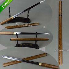 Handmade HuaLee-Wood-Japanese-Sword-Shirasaya-Razor-Sharp Katana Ninja Wakizashi