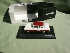 FORD 17M 1957 BLANC/ROUGE 1/43 WHITEBOX EDITION LIMITEE 1000 PIECES