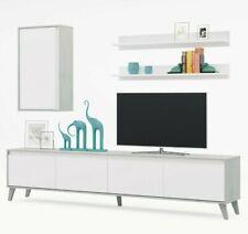Parete attrezzata Telde mobile Soggiorno porta TV sala da pranzo salotto bianco