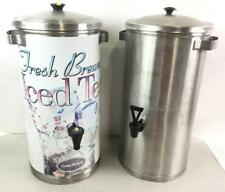 (2) Stainless Steel Drink Dispensers Lot 3427