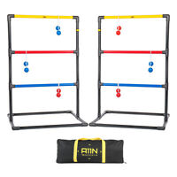 A11N Portable Premium Ladder Toss Golf Game Set with 6 Golf Bolas & Carry Bag
