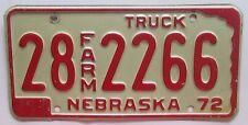 Nebraska 1972 HAMILTON COUNTY FARM TRUCK License Plate NICE QUALITY # 28 2266