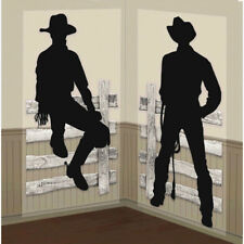COWBOY SCENE SETTERS Wall Backdrop Western Farm Props Party Decorations PosterCO