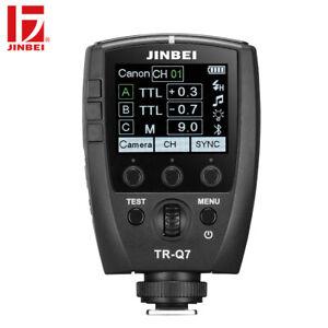 JINBEI TR-Q7 TTL HSS 1/8000 Hot Shoe Wireless Transmitter Camera Trigger APP Con