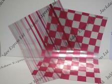 Check & Stripe Pink Patterned Acetate 10 x A4 Art Crafts Cardmaking AM31