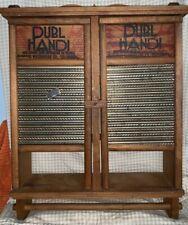 Dubl Handi Vintage Washboard Double Door Hanging Cabinet Shelf Primitive RARE!