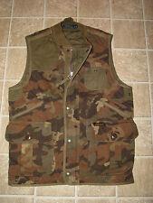 $198. Men's Quilted Fleece CAMO Utility Military Vest (S) POLO-RALPH LAUREN