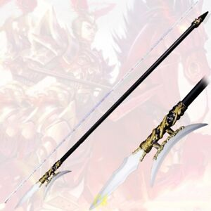 Martial Arts KUNG-FU The Day The Picture Halberd Spear Bayonet Sword Knif #3863