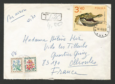 Pologne 1975 timbre sur lettre & 2 timbres taxe France / L1298