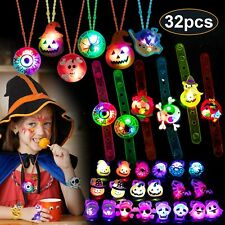 Halloween Party Favors for Kids-Light Up Toys Glow Rings Necklaces...