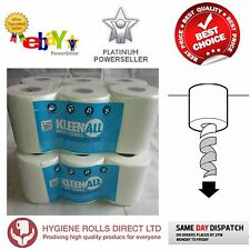 12 rolls (2 PACKS) x KLEEN White Centrefeed Embossed 2ply Wiper Paper Towel 40M
