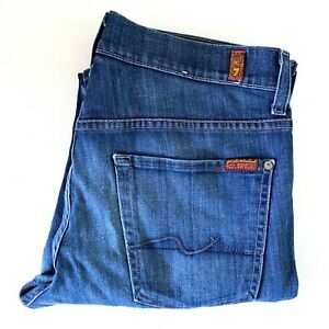 7 For All Mankind Austyn Blue Men Denim Relax Fit Jeans Size 32 Made in USA