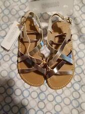 Gymboree girls rose gold sandals size 1 nwt