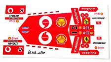 Custom 'Pre-Cut' stickers for LEGO 8386 Ferrari f1 racer , toys, models, etc