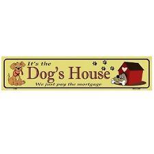 """Dog's House Indoor/Outdoor Novelty Metal Mini Street Sign 4"""" x 18"""""""