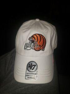 Women's CINCINNATI BENGALS HAT dad cap white helmet logo '47 Brand ladies OSFM