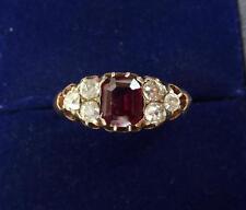 Beautiful 18ct gold edwardian 1ct ruby and diamond ring