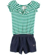 NEW LOS ANGELES GUESS Girl's SUMMER ROMPER Stripe Green Size 12