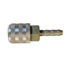 "1/4"" Hose Barb Sleeve Lock Straight-In Brass Chuck w/o Shut-off Valve - T20"