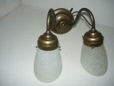 """Applique """"olive"""" 2 lampes en laiton bruni mural salle de bain, chambre"""