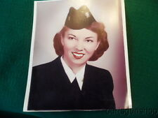 WWII US NAVY WAVE FEMALE OFFICER COLORIZED PORTAIT PHOTO