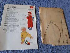 Vintage 1970s Silver Needles sewing pattern No: 25 Baby crawler uncut