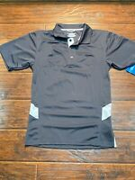 brooks running  Gray And White polo size small
