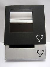 Geschenkbox Aufbewahrungsbox Schmuck-Box Gift-Box schwarz-silber 120x120x27 mm