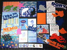 Finding Nemo - Finding Dory Scrapbook Kit.  Project Life Paper die cuts- Disney