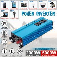 5000W DC 12 à AC 220V LED Numérique Puissance Inverter Onduleur Convertisseur