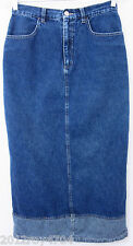 "Riveted By Lee Womens Jeans Skirt 8 M 28"" Waist 32"" Long Two Tone"