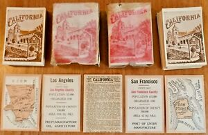 Seldom Seen Antique 1913 - THE GAME OF CALIFORNIA - Complete w/ 58 County Maps
