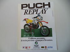 advertising Pubblicità 1986 MOTO PUCH 250 REPLAY FRIGERIO